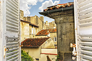 Old Houses Metal Prints - View in Cognac Metal Print by Elena Elisseeva