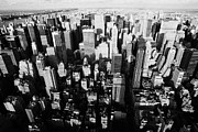 Manhatten Prints - View North And Down Towards Central Park From Empire State Building Print by Joe Fox