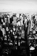 Manhatten Prints - View North And Down Towards Central Park From Empire State Building New York Print by Joe Fox