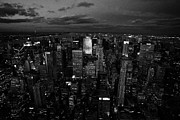 Manhaten Prints - View North At Dusk Towards Central Park New York City Night Cityscape Print by Joe Fox