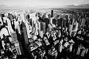 Manhatten Prints - View North East Of Manhattan Queens East River From Observation Deck Empire State Building Print by Joe Fox