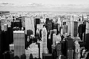 Manhatten Framed Prints - View North Towards Central Park From Empire State Building New York Framed Print by Joe Fox