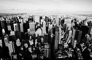 Manhatten Prints - View North Towards Central Park From New York City Usa Print by Joe Fox