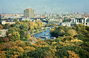 Berlin Germany Mixed Media - View of Berlin / Autumn by Gynt