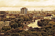 Berlin Tapestries Textiles Originals - View of Berlin by Gynt