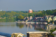 Waterworks Digital Art - View of Boathouse Row  by Bill Cannon
