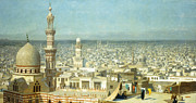 North Africa Painting Framed Prints - View of Cairo Framed Print by Jean Leon Gerome