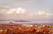 Salisbury Photos - View of Edinburgh from Salisbury Crags. Scotland by Jenny Rainbow
