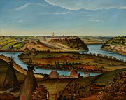 Native Americans Painting Framed Prints - View of Fort Snelling Framed Print by Edward K Thomas