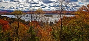 Adirondacks Photo Posters - View of Fourth Lake above Eagle Bay Poster by David Patterson