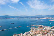 Outdoor Airport Posters - view of Gibralter straight from the top of the rock Poster by Fizzy Image