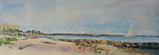 View Of Harkness Park From Seaside Waterford Ct Print by Patty Kay Hall