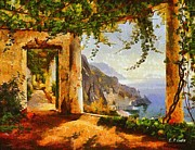Italian Landscapes Paintings - View of Italy by Elizabeth Coats