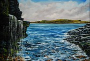 See You Painting Framed Prints - View of Kilkee from Georges Head Framed Print by Avril Brand
