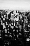 Manhatten Posters - View Of Manhattan North Towards Central Park From Empire State Building Poster by Joe Fox