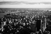 Manhatten Prints - view of manhattan south east towards east river and Brooklyn new york city cityscape usa Print by Joe Fox