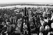 Manhatten Prints - View Of Manhattan West Towards Hudson River And One Penn Plaza New York City Print by Joe Fox