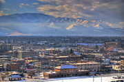 Missoula Framed Prints - View of Missoula Montana Framed Print by Dariusz Janczewski