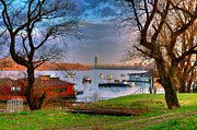 Buy Local Framed Prints - View of New Belgrade over the Danube. Serbia Framed Print by Juan Carlos Ferro Duque