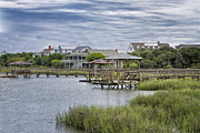 Fishing Creek Prints - View of Pawleys from the Creek Print by Sandra Anderson