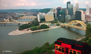 Three Rivers Paintings - View of Pittsburgh from Mt. Washington by George Pedro