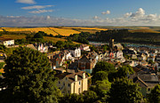 Hill Town Posters - View of Salcombe Poster by Louise Heusinkveld