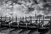 View Of San Giorgio Maggiore Venice Print by Olia Saunders
