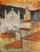 Florence Prints - View of Santa Croce Florence Print by Micheal Jones
