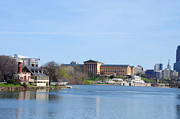 Art Museum Digital Art Prints - View of the Art Museum and Waterworks in Philadelphia Print by Bill Cannon