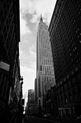 Manhaten Framed Prints - View of the empire state building from West 34th Street and Broadway junction new york city Framed Print by Joe Fox