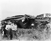 View Of The Great Railroad Wreck, The Print by Everett
