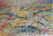 Watercolorist Painting Originals - View of the Old City of Jerusalem by Esther Newman-Cohen