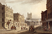 View Of The Town Hall, Market And Abbey Print by John Claude Nattes