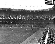 Baseball Field Framed Prints - View Of Yankee Stadium Framed Print by Underwood Archives