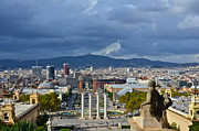 Scenery Prints - View on Barcelona Print by Dorota Nowak