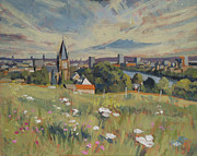 Limburg Paintings - View on Maastricht by Nop Briex