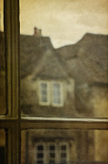 Frame House Framed Prints - View Out an Old Window Framed Print by Margie Hurwich