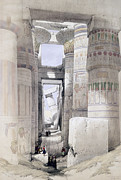 View Through The Hall Of Columns Print by David Roberts
