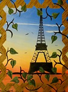 Trellis Paintings - View Through the Trellis by Tim Townsend