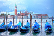 Canals Framed Prints - View to San Giorgio Maggiore Framed Print by Heiko Koehrer-Wagner