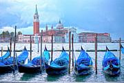 View To San Giorgio Maggiore Print by Heiko Koehrer-Wagner