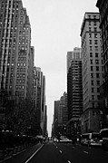 Manhatan Photo Prints - View Up 6th Ave Avenue Of The Americas From Herald Square In The Evening New York City Winter Print by Joe Fox