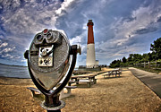 Barnegat Lighthouse Framed Prints - Viewing Barney Framed Print by Mark Miller