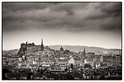 Lenny Carter Framed Prints - Views across Edinburgh Framed Print by Lenny Carter