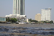 Taxi Photo Prints - Views from a river boat taxi in Bangkok Thailand - 01132 Print by DC Photographer