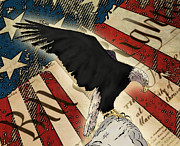 First Amendment Digital Art - Vigilance - American Eagle by Tony Clark
