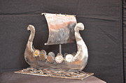 Ship Sculptures - Viking Long Boat #018 by Rob Obvious