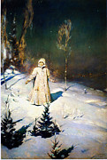 High Society Painting Prints - Viktor Vasnetsov Snegurochka Print by MotionAge Art and Design - Ahmet Asar