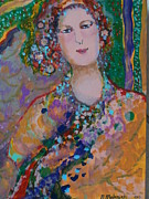 Jewel Tone Paintings - Viktoriya by Norma Malerich