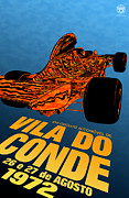 Vila Do Conde Framed Prints - Vila do Conde Portugal 1972 Grand Prix Framed Print by Nomad Art And  Design